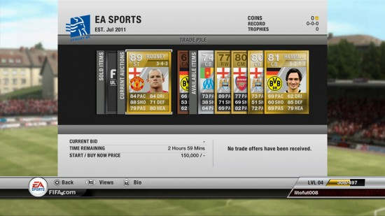 FIFA 12 Ultimate Team  FIFA 12 Ultimate Team Screenshot FIFA 12 Ultimate Team