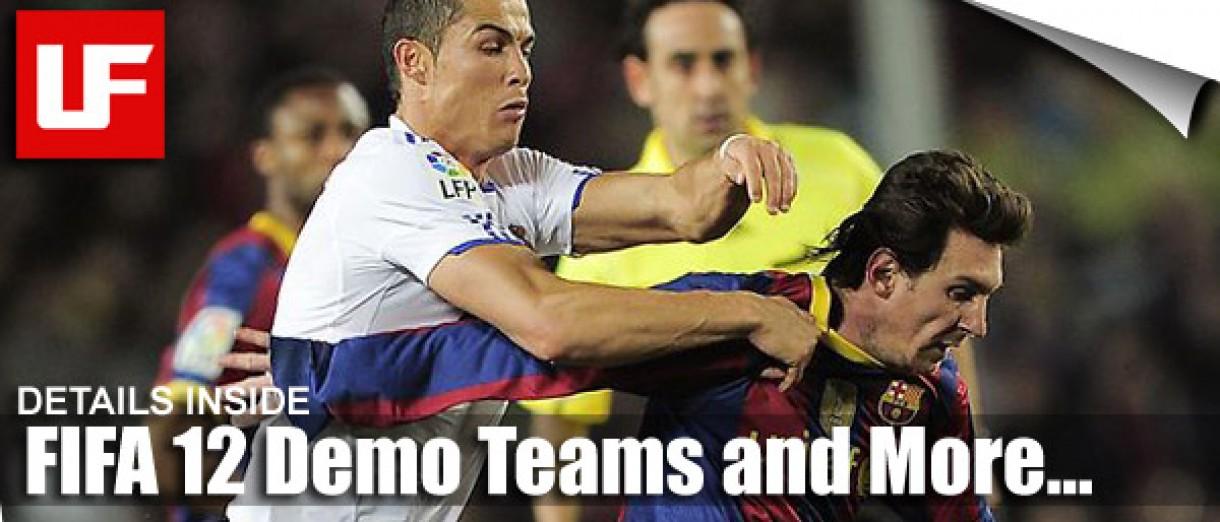 FIFA 12 Demo Teams