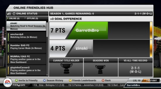 FIFA 12 Online Friendlies