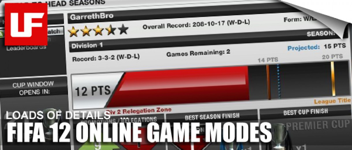 FIFA 12 Online Game Modes