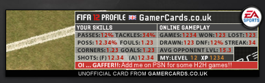 FIFA 12 Gamercard Fatty