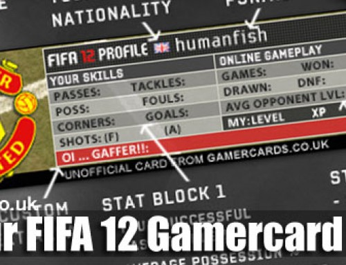 FIFA 12 Gamercards Available Now for Forum Signatures