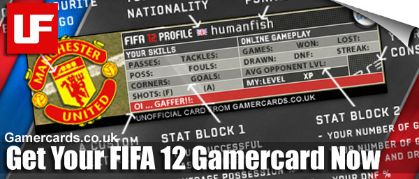 FIFA 12 Gamercards