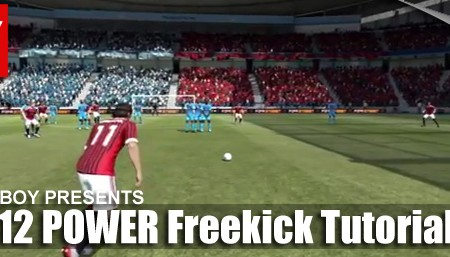 FIFA 12 Power Freekick Tutorial
