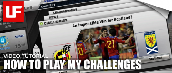 FIFA 12 My Challenges  How to play FIFA 12 My Challenges FIFA 12 My Challenges