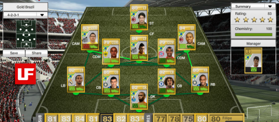 FIFA 12 Ultimate Team Gold Brazil  FIFA 12 Ultimate Team Chemistry Guide FIFA 12 Ultimate Team Gold Brazil