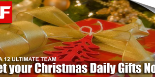 FIFA 12 Christmas Ultimate Team Daily Gifts