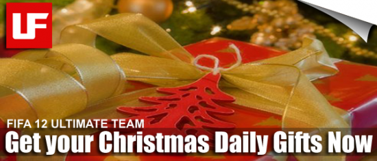 FIFA 12 Ultimate Team Daily Gifts  FIFA 12 Christmas Ultimate Team Daily Gifts FIFA 12 Ultimate Team Daily Gifts