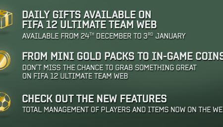 FIFA 12 Ultimate Team Christmas Daily Gifts Are Back!
