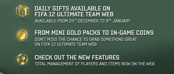 FIFA Ultimate Team Christmas Daily Gifts
