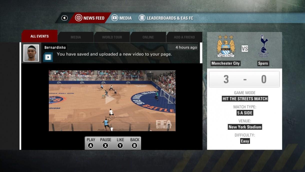 FIFA Street 2012 Street Network Video Upload