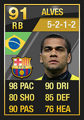 TOTY Alves  Ultimate Team of the Year FULL In Game Stats: Defenders TOTY Alves