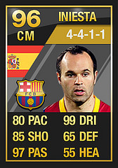 TOTY Iniesta  Ultimate Team of the Year FULL In Game Stats: Midfielders TOTY Iniesta1