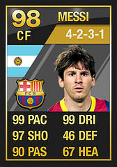 TOTY Messi  Ultimate Team of the Year FULL In Game Stats: Attackers TOTY Messi