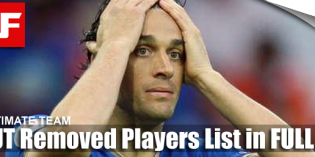 FIFA 12 Ultimate Team Removed Players List
