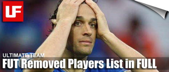 FIFA 12 Ultimate Team Removed Players  FIFA 12 Ultimate Team Removed Players List FIFA 12 Ultimate Team Removed Players