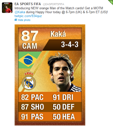 Ultimate Team MOTM Card via Twitter  Ultimate Team MOTM Cards Ultimate Team MOTM Card via Twitter
