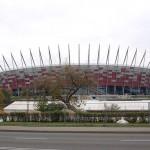 Warsaw - New national stadium from Park Skaryszewski