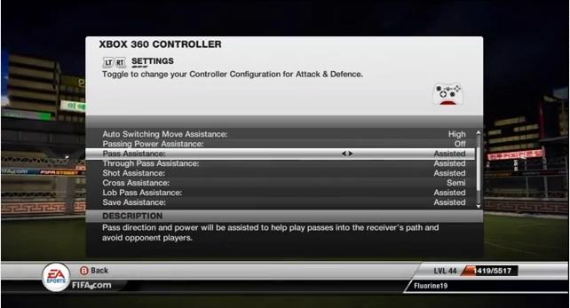 FIFA 12 Manual Controls