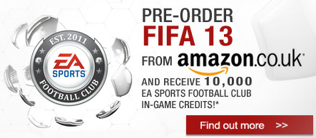 Pre Order FIFA 13 from Amazon