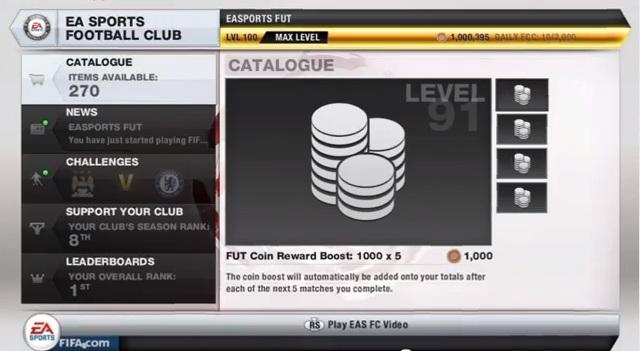 FIFA 13 FUT Menus