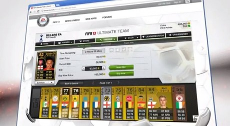 FIFA 13 Ultimate Team Web App Trading