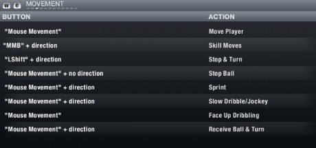 FIFA 13 PC Controls - Movement  FIFA 13 PC Keyboard Controls FIFA 13 PC Controls Movement
