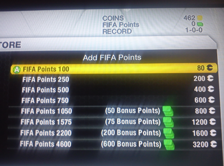 FIFA Points Without Season Ticket