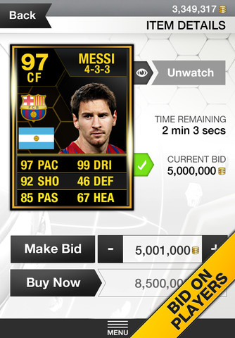FIFA 13 FUT iPhone App