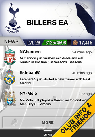FIFA 13 Ultimate Team iPhone App