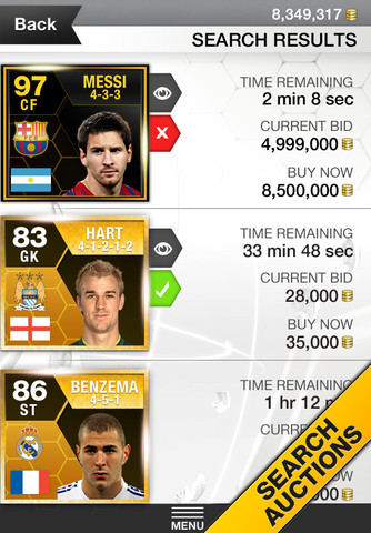 FIFA 13 iPhone App  FIFA 13 Ultimate Team iPhone App Available Now FIFA 13 iPhone App