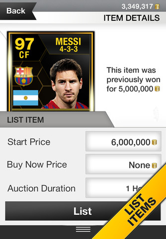 FUT 13 iPhone App