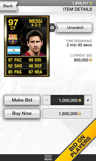 FIFA 13 Ultimate Team Android App