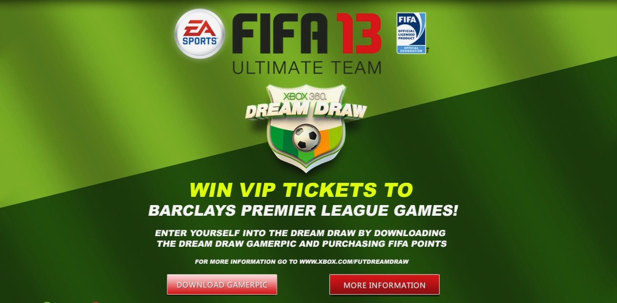 FIFA 13 Ultimate Team Dream Draw