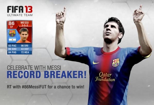 Messi 86 Ultimate Team  New Messi 86 Ultimate Team Tribute Card Messi 86 Ultimate Team