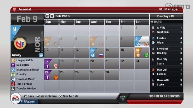 FIFA 13 Career Mode