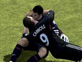 FIFA 12 Carrol Fabianski Kiss  Will EA SPORTS' New Engine IGNITE FIFA 14 or Fizzle Out? FIFA 12 Carrol Fabianski Kiss
