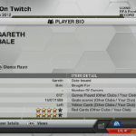 Gareth Bale's Personal 95 Rated Ultimate Team Card Bought Last Night