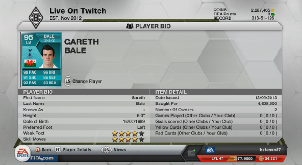 IF 95 BALE Stats