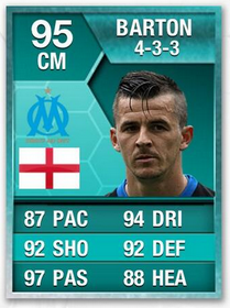 Joey Barton Record Breaking Ultimate Team Card  Joey Barton's Record Breaking Ultimate Team Card Sale Joey Barton Ultimate Team Card