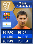 EASFC TOTS Messi  FIFA 13 Developers Pick the EASFC Team of the Season EASFC TOTS Messi
