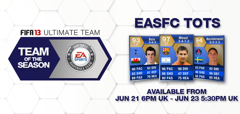 EASFC Team of the Season  FIFA 13 Developers Pick the EASFC Team of the Season EASFC Team of the Year