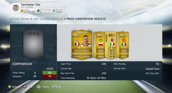 Compare FUT 14 players