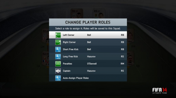 FUT 14 Player Roles  Exciting New FIFA 14 Ultimate Team Information FUT 14 Player Roles