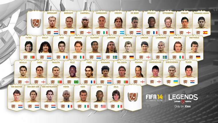 FIFA 14 FUT Legends Players
