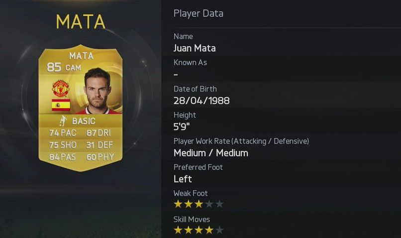 FIFA 15 Juan Mata  FIFA 15 Player Ratings Rolled Out In True EA Style FIFA 15 Juan Mata