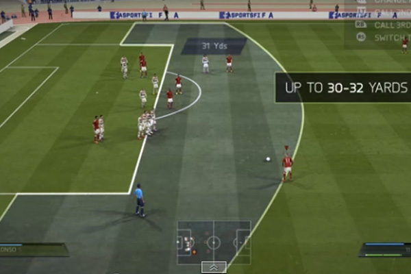 FIFA 15 Finesse Free Kick Tutorial