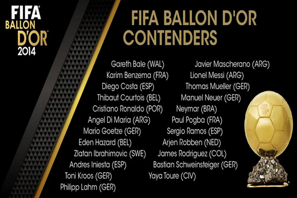 FUT 15 Team of the Year Shortlist – FIFA Announce 2014 Ballon d'Or Contenders