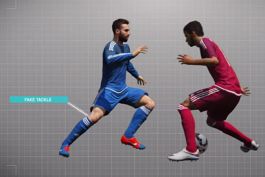 FIFA 16 Fake Tackle What's New In FIFA 16? Gameplay Innovations. What's New In FIFA 16? Gameplay Innovations. FIFA 16 Fake Tackle