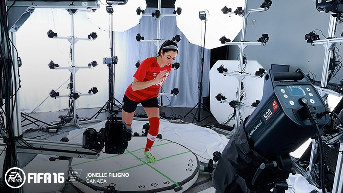 Jonelle Filigno Motion Capture for FIFA 16